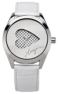 Morgan M1092W Ladies Watch Quartz Analogue Multicolour Dial White Leather Strap