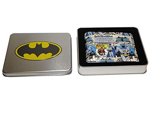 DC Comics Batman Portafogli con pipistrelli fumetto in una scatola di latta
