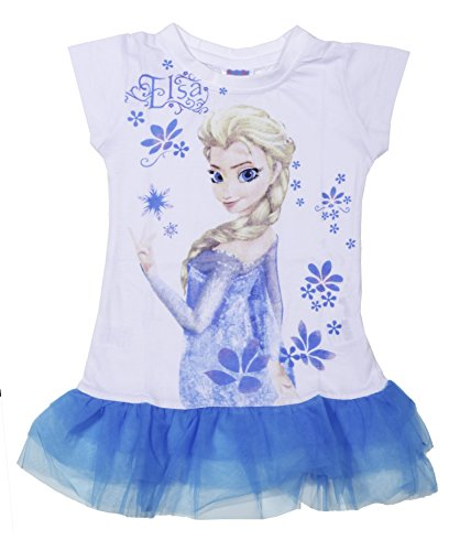 Disney Frozen Elsa Fashion Tutu Blue/white Dress for Toddler Girls - Offer!