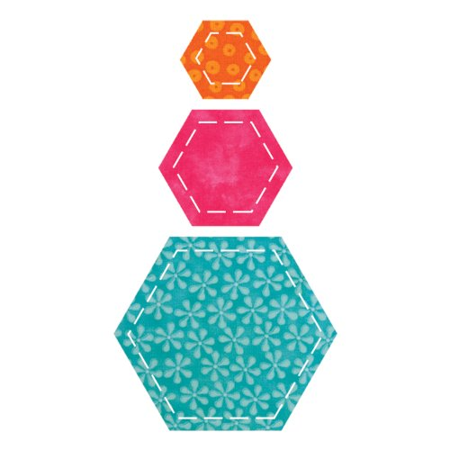 Accuquilt Go! Fabric Cutting Dies; Hexagons front-316333