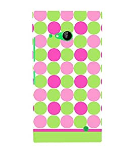Dots Fashion Pattern 3D Hard Polycarbonate Designer Back Case Cover for Nokia Lumia 730 :: Microsoft Lumia 730 :: Microsoft Lumia 735