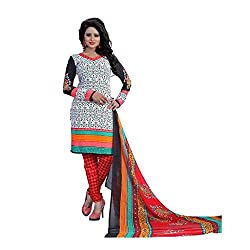 Shree Hari Creation Women's Poly Cotton Unstitched Dress Material (240_Multi-Coloured_Free Size)