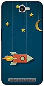 The Racoon Lean space cowboy hard plastic printed back case for Alcatel Onetouch Flash 6042D