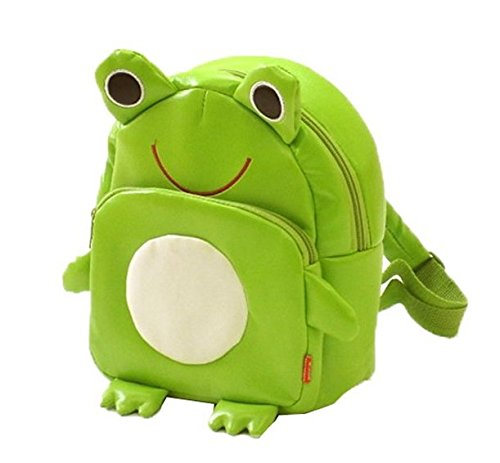 Gaorui Children Toddler Kid's Leather School Bag Animal Fruit Cartoon Backpack 14 Styles - Frog Pattern