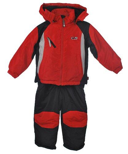"""CB Sports """"Slope King"""" 2-Piece Snowsuit (Sizes 2T - 4T) - black, 3t"""
