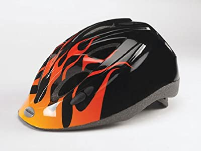 Raleigh Rogue Kids / Childrens Boys Bike / Cycle Helmet 52-57cm Black Flame from Raleigh