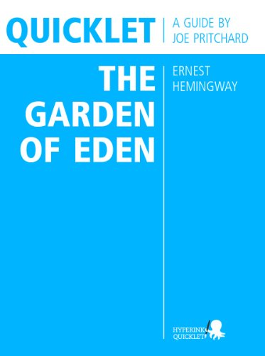 the garden of eden hemingway essay Hemingway's the garden of eden: twenty-five years of criticism [suzanne del gizzo, frederic j svoboda] on amazoncom free shipping on qualifying offers the.