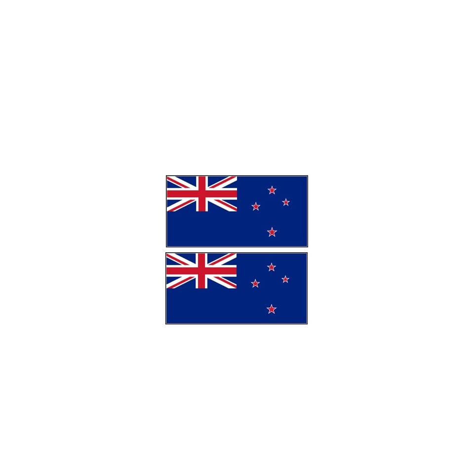 2 New Zealand Flag Stickers Decal Bumper Window Laptop Phone Auto Boat Wall