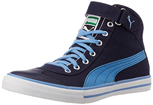 Puma Unisex 917 Mid 3.0 DP Peacoat, Marina Blue and White Canvas Sneakers - 10 UK  available at amazon for Rs.2122