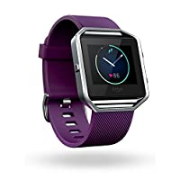 Fitbit Blaze Smart Fitness Watch, Plum, Silver, Large
