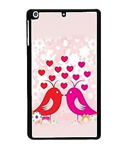 printtech Love Birds Couple Back Case Cover for Apple iPad Mini 3