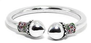 Thaipradub Jewels Women's Lotus Thailand Sterling Silver Cuff Bracelet ,2.5