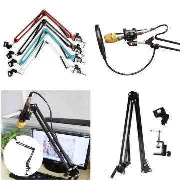 Adjustable Microphone Mic Suspension Boom Scissor Arm Support Stand Holder (Blue) by Completestore (Fake Robot Arm compare prices)