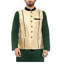 Yepme Men's Beige Blended Nehru Jackets - YPMNJKT0035_M