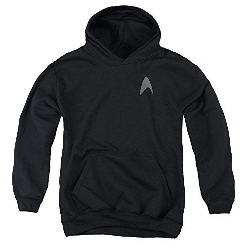 [Star Trek Darkness Capt Kirk Command Logo Uniform Costume Big Boys Youth Hoodie] (Leonard Mccoy Costume)