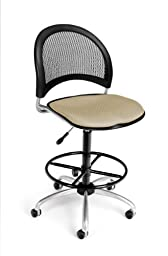 OFM 336-DK-2209 Moon Swivel Chair with Drafting Kit, Khaki