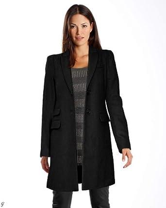 hallhuber damen mantel marken wollmantel schwarz in gr e s polyester schwarz bekleidung. Black Bedroom Furniture Sets. Home Design Ideas