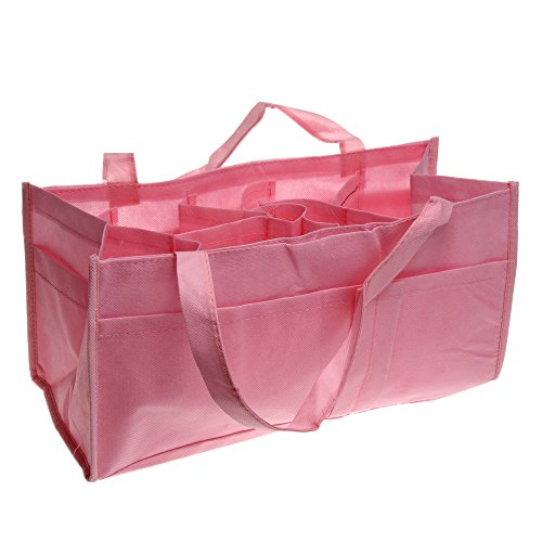 Baby Changing Diaper Nappy Bag Mummy Shoulder Divider Handbag Multi Funcion Pink front-1018145