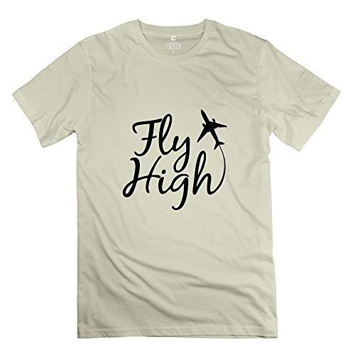 Tgrj Men'S T Shirt - Cool Fly High T Shirt Natural Size M