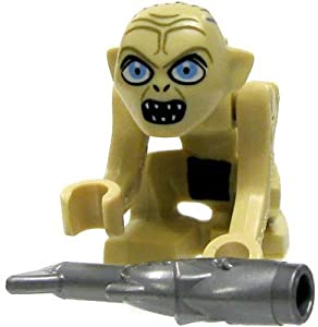 LEGO The Lord of The Rings Gollum Minifigure Wide Eyes with Fish (2012)