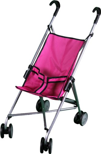 Mommy & Me Doll Stroller with Swiveling Wheels - 9302W