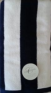 Charisma Resort Beach Towel (Dark Blue Cabana Stripe / 35 in x 70 in)