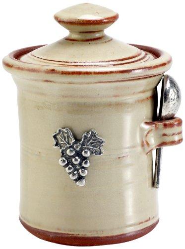 Crosby & Taylor Vineyard Stoneware Salt Pot, Latte Glaze