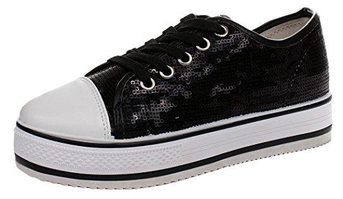 Xiaxian Women's Casual Shoes(7 B(M)US,black)