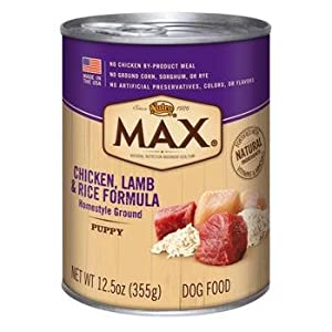 Nutro MAX Puppy Chicken, Lamb and Rice Canned Dog Food