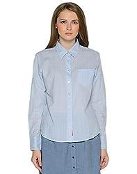 Mavango Light Blue Full Sleeves Shirt For women