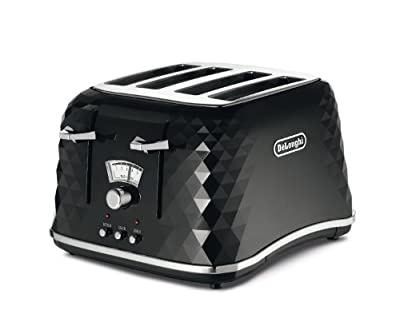 Delonghi Brillante 4 Slice Toaster Black (Delonghi brillante black 4 slice toaster extra lift defrost reheat and canel function) by Delonghi