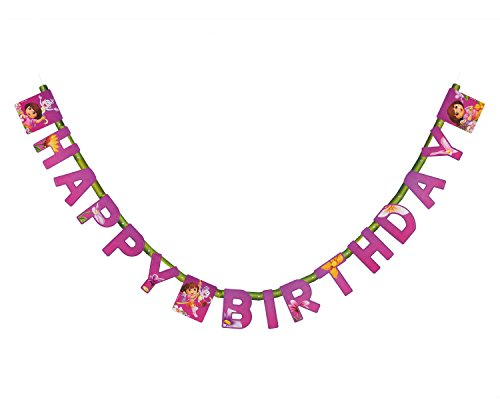 American Greetings Dora The Explorer Birthday Banner Party Supplies - 1