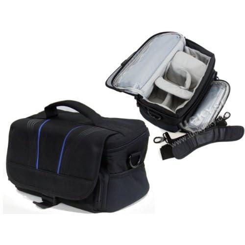 Navitech 黒 カメラバッグ 大 Olympus E-5, Olympus E-M5 対応