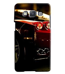 Omnam Sports Car Back Light Printed Designer Back Cover Case For Samsung Galaxy E5