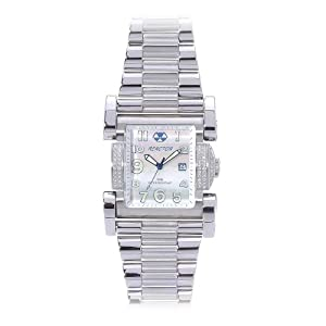 REACTOR Men's 82005 Ion Diamond Mother of Pearl Stainless Steel Limited Edition Watch