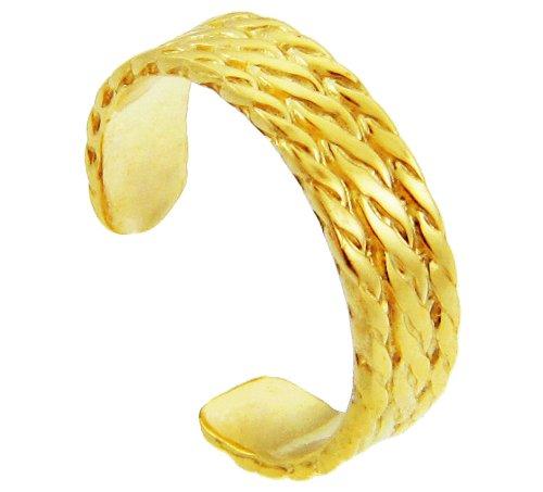 Yellow Gold Milgrain Weave Toe Ring (10K Gold)
