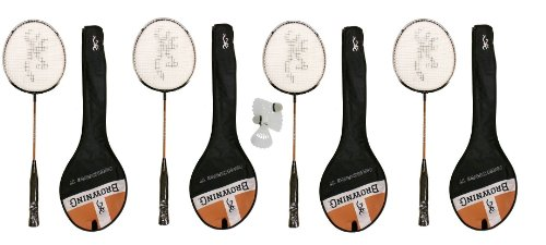 4 X Browning Nanofire Badminton Rackets + Carry Cases + 3 Shuttles RRP £130