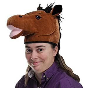 Plush Horse Head Hat Party Accessory (1 count) (1/Pkg) by The Beistle Company