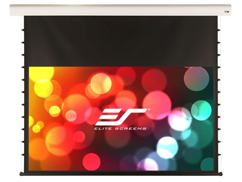 "Elite Screens Starling Tension Series 120""(16:9)-(58.5""X104.5"") Electric/Motorized Tab-Tensioned Projection Screen With Ir/Rf Remotes, Floating Wall/Ceiling Brackets, Maxwhite Fiber Glass Material-Elite-Stt120Xwh-E14"