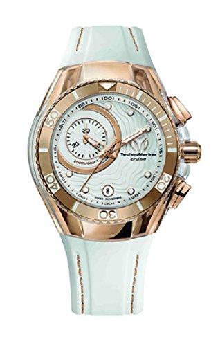 technomarine-cruise-one-swiss-womens-quartz-watch-with-white-dial-chronograph-analog-display-and-whi