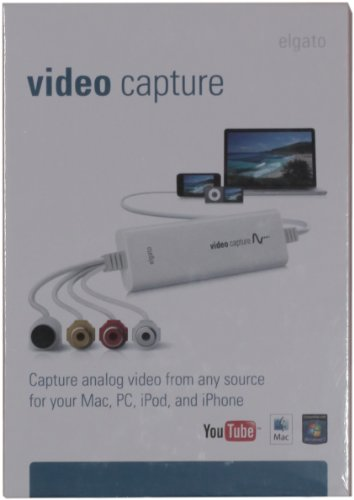 Elgato Video Capture, Capture analog video for your Mac or PC, iPad and iPhone, white
