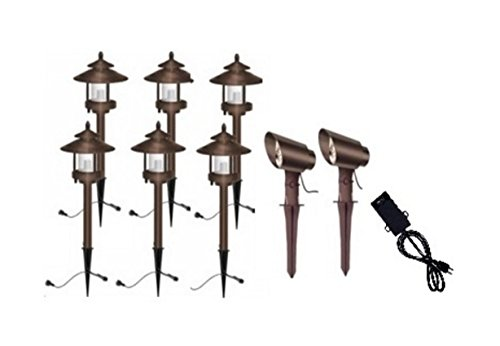 Ledhill Westinghouse Low Voltage Landscape Remington Bronze 8-Piece LED Light Set ( Bronze Color ) (Low Voltage Outdoor Lighting Sets compare prices)