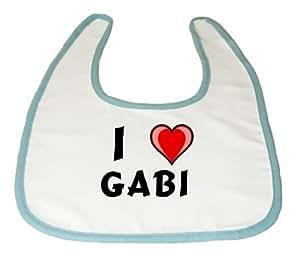 Amazon.com: Baby Bib with I Love Gabi (first name/surname