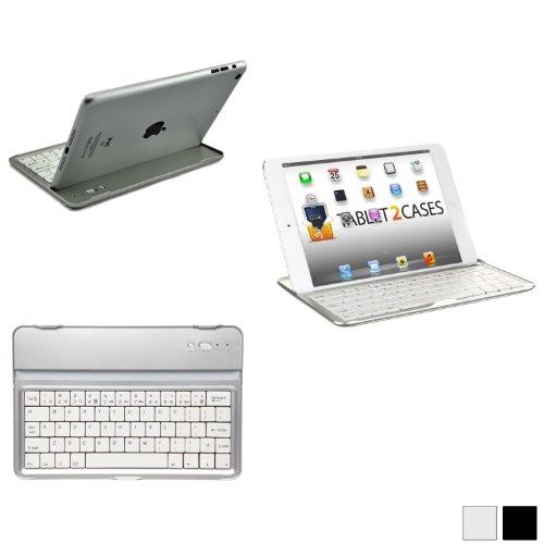 Cooper Cases(Tm) Aluminum Buddy Apple Ipad Mini Bluetooth Keyboard Dock In White (Ultra Thin 11Mm, Lightweight 320G, Brushed Metal Finish, Flush-Mount, 82 English Keys, 55 Hr Battery)