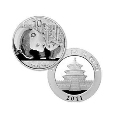 2011 China Panda Series - 1 Ounce Silver Coin