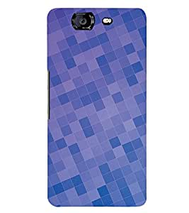 DARK AND LIGHT BLUE CHECK PATTERN 3D Hard Polycarbonate Designer Back Case Cover for Micromax Canvas Knight A350