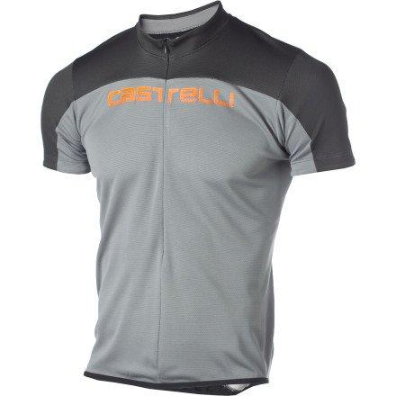 Buy Low Price Castelli Prologo HD Short Sleeve Jersey Grey/Anthracite/Orange, M (A11004934-3)
