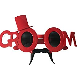 Funcart Red Groom with hat sunglasses