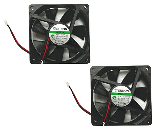 Sunon 70x70x15mm KDE1207PHV3 2Pin/2Wire 12v Low Speed Fan (2 pack) (Low Speed Fan compare prices)