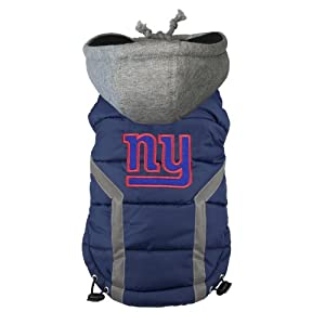 NFL New York Giants Dog Puffer Vest, 3X-Large by FURocious Fan - Little Earth